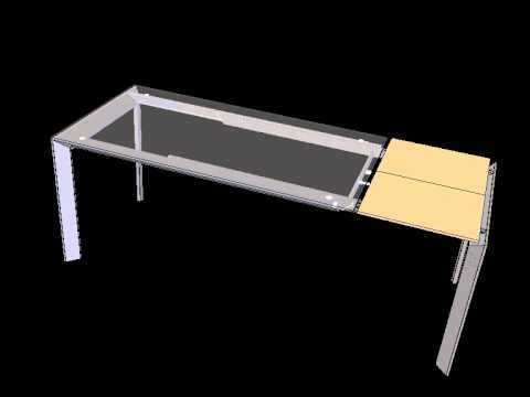 C11l Meccanismo Per Tavolo Con Una Allunga A Libro Youtube