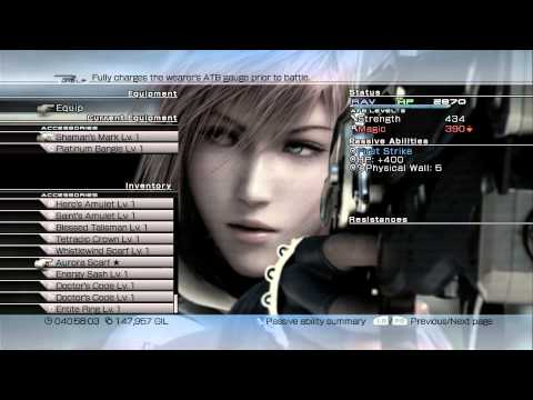 """Let's Play: Final Fantasy XIII - Part 67 """"Upgrading Accessories"""" 