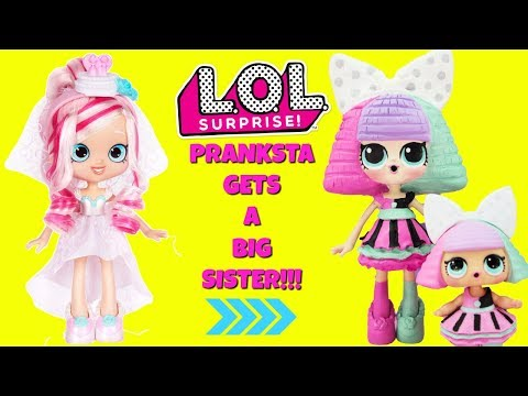 LOL SURPRISE Pranksta Gets A Big Sister DIY Shopkins Shoppie Doll Bridie Custom Makeover