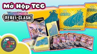Có gì trong hộp Pokemon TCG Sword and Shield Reble Clash ToyStation 496