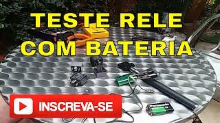 Como testar a armação de um rele utilizando baterias de 9 volts. ✴✴