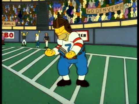 Simpsons-Homer is John Elway