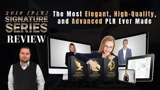 Signature Series PLR 2019 Review - Elegant. Clean. Minimalist. Premium PLR