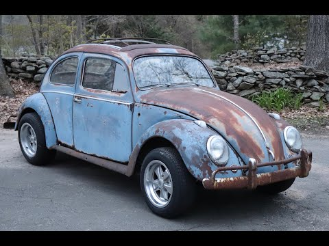 1958 Volkswagen Beetle Ragtop : working on the Patina 58 Vw Bug rims, right pan & heater channel