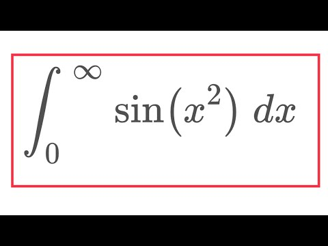 Integral of sin(x^2) from 0 to infinity
