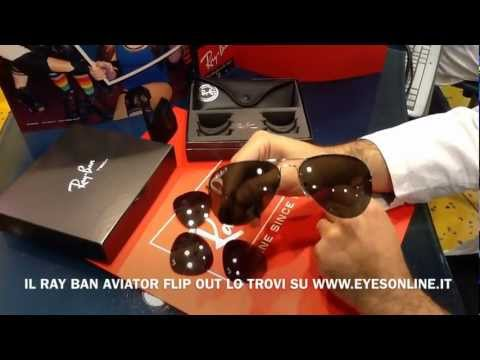 ray ban flip out aviator
