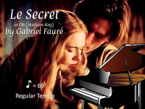 Le Secret by Fauré in Db (Medium Key) Piano Accompaniment