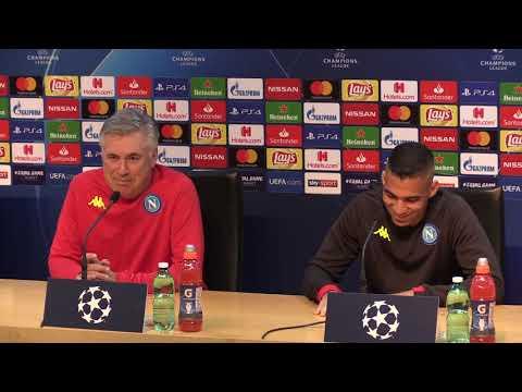 Napoli-Stella Rossa, Ancelotti e Allan in conferenza stampa