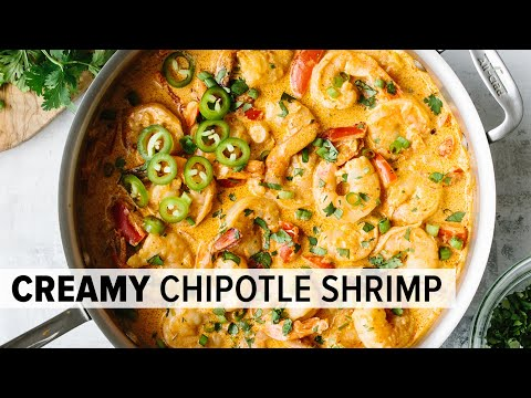 CREAMY CHIPOTLE SHRIMP | best easy shrimp recipe (low-carb & keto)