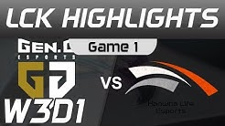 GEN vs HLE Highlights Game 1 LCK Spring 2020 W3D1 Gen G vs Hanwha Life Esports LCK Highlights 2020 b