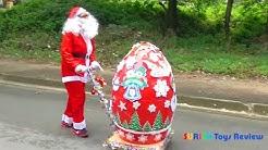 Mở quả trứng khổng lồ đồ chơi mừng giáng sinh cho bé - Giant Egg Surprise Toys Opening - Surich toys