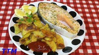 Salmon Dinner IdeaBaked Salmon and PotatoesSalmon Steak and Chips
