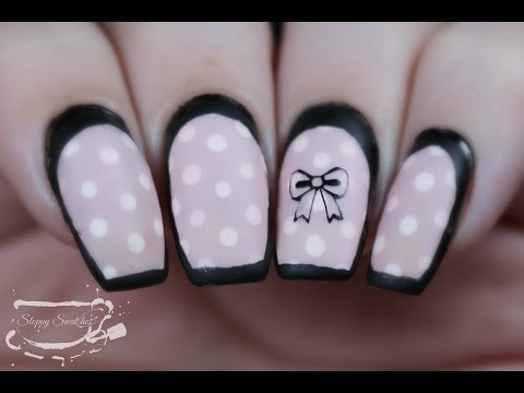 Nail Art | Pink Dotticure Lingerie Inspired Look