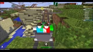 roblox the adventures of reihancreeper: ep 4 cart ride into steve (minecraft)