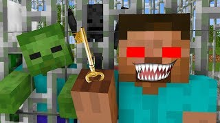Monster School : HEROBRINE BECAME VILLAIN EVIL PART 3 - RIP Minecraft Animation