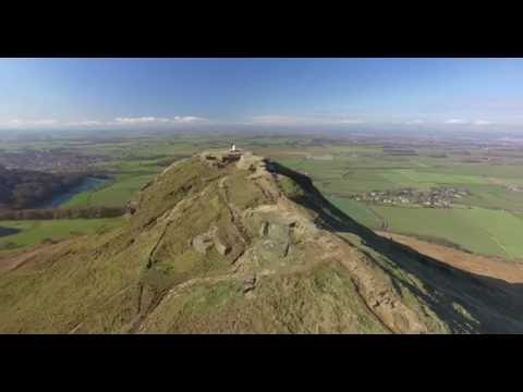 Roseberry Topping, North York Moors by drone, HD
