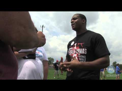 NFL star returns home for youth camp