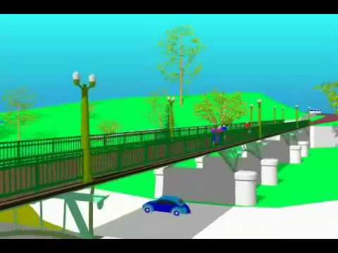 Proposed Foot Bridge for the City of Dixon, Illinois.
