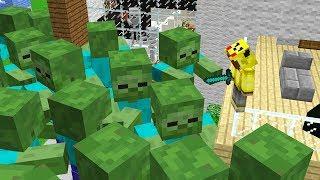 EVİMDE DEV ZOMBİ KIYAMETİ! 😱 - Minecraft