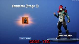 UNLOCKING *NEW* Vendetta Stage 3 Outfit on Fortnite Battle Royale Season 9