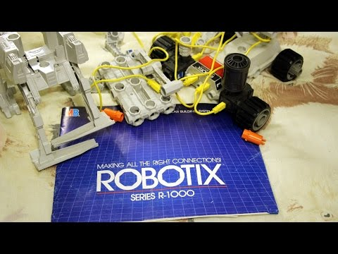1984 ROBOTIX R-1000 construction kit review