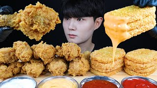 ASMR FRIED CHICKEN & HASH BROWNS EATING SOUNDS MUKBANG 치킨 해쉬브라운 먹방ASMR MUKBANG |SUB|