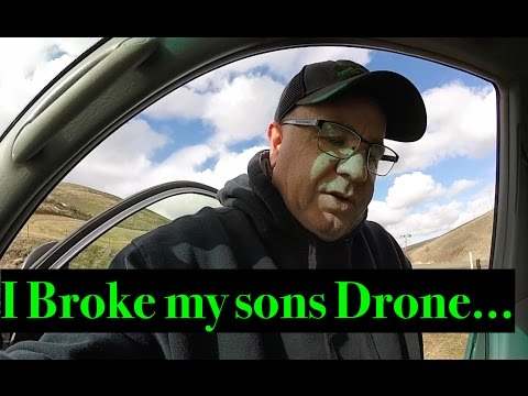 I BROKE MY SONS DJI MAVIC PRO DRONE.....