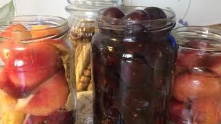 Консервируем персики и сливы в сахарном сиропе😋полезное лакомство для сладкоежек😉