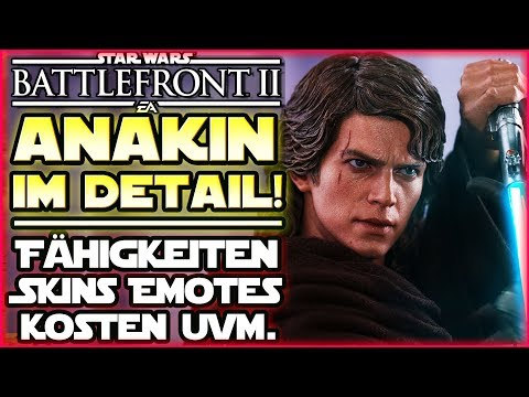 Anakin Skywalker im Detail - Gameplay Fähigkeiten Skins Kosten etc. - Star Wars Battlefront 2 thumbnail