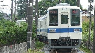 【東武東上線 ワンマン 8000系 8197F 検査出場 森林公園帰還】本日、越生線運用に入っている所を撮影。81105Fから台車移植跡は分からず。