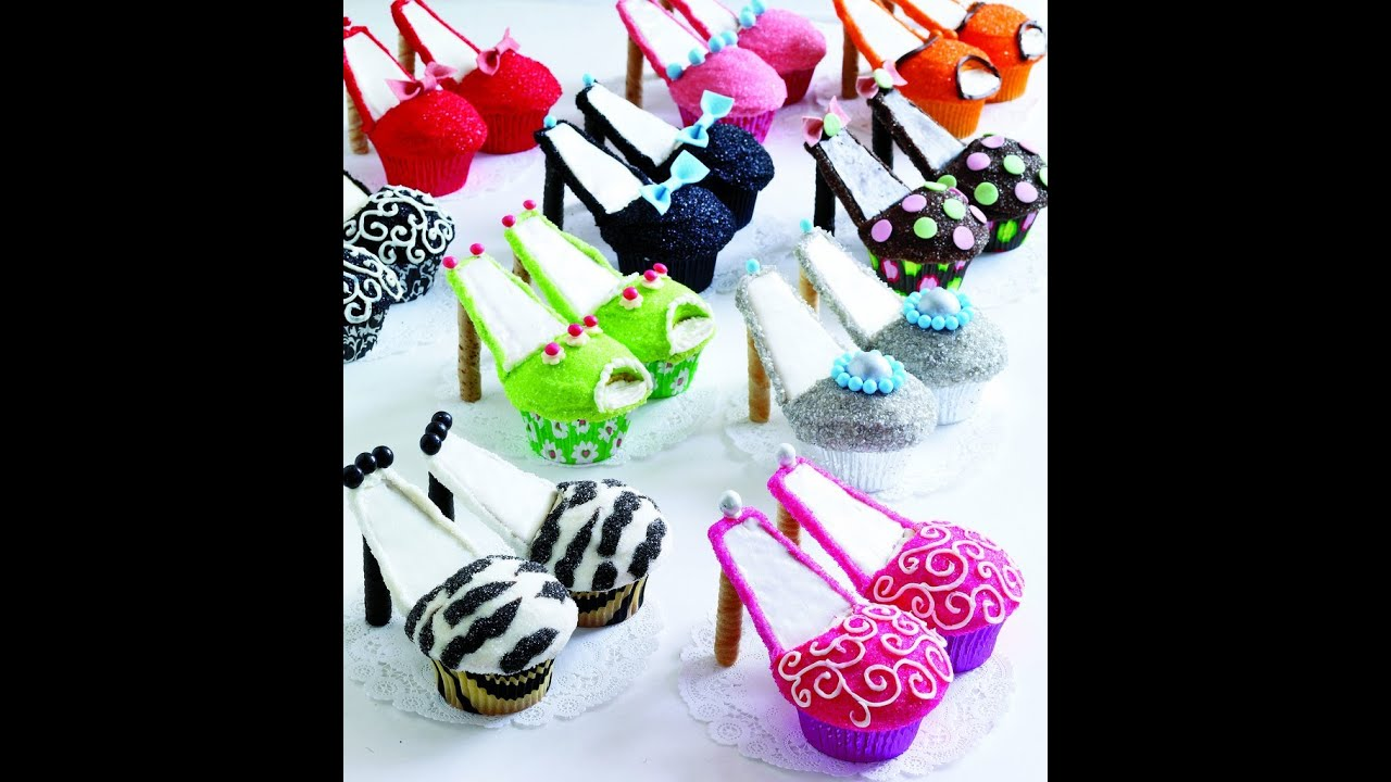 How To Make High Heels Cupcakes Tutorial Youtube