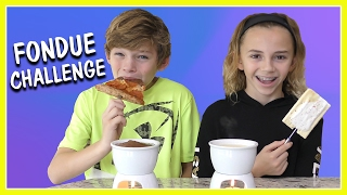"""Kayla and Tyler try the """"Fondue Challenge""""! Check out what crazy fo..."""