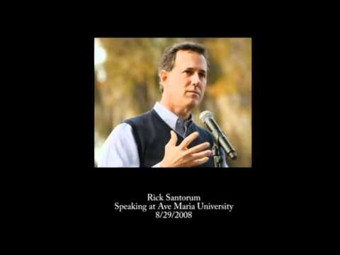 Rick Santorum INSULTS the Protestant Church