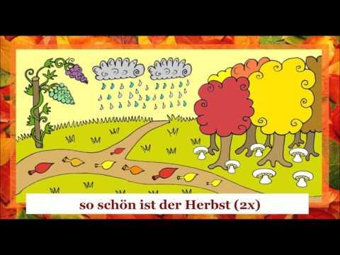 Der Herbst bringt uns Trauben - ein Lied (+ text + traduction + translation)