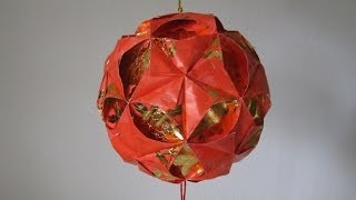 Repeat youtube video CNY TUTORIAL NO. 4 - How to make a Ornamental Hong Bao (Red Packet) Flower Ball (彩球, 花球)  )