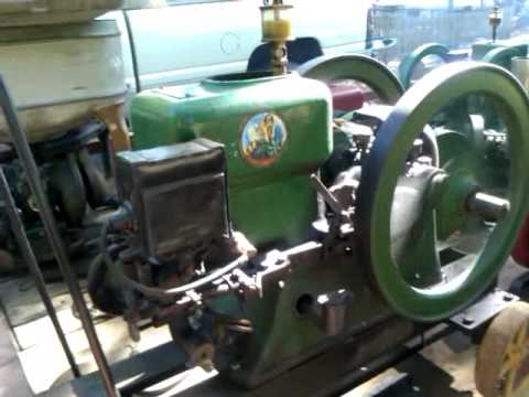 Antique Hercules Hit And Miss Gasoline Engine Youtube