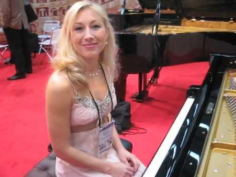 NAMM 2009 Natalia Kartashova on Fazioli Pianos Part One