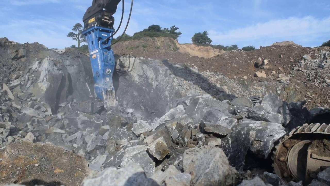 Rock breaker hammer volvo excavator