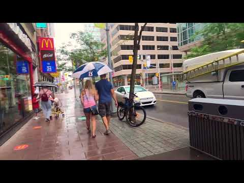 Walking through Canada's capital. Ottawa downtown. 4K.