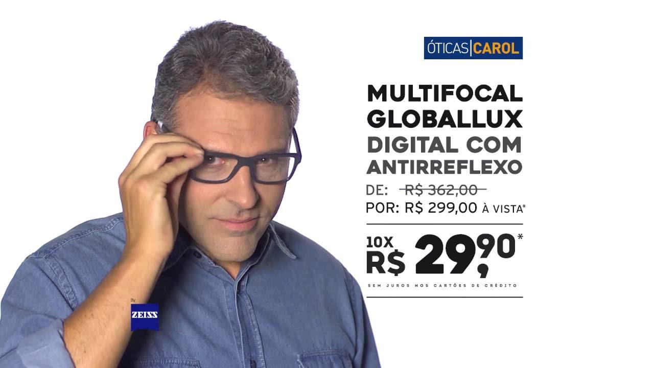 5f06de5c7 Óticas Carol - Lente Multifocal GLOBALLUX - YouTube