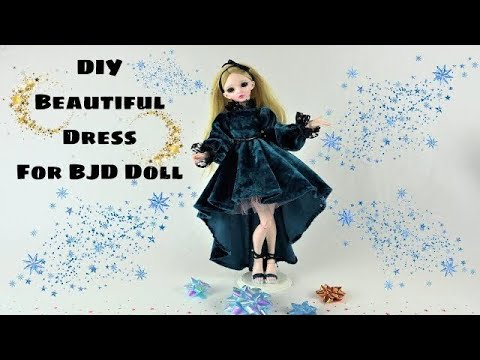 DIY Very beautiful dress for big doll  Barbie Fashion Clothes Tutorial for kids Girls