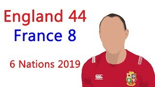 England 44  - 8 France, 6 Nations 2019, Match Analysis