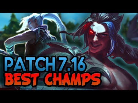 Patch 7.16 NEW Best Champions to carry with for EVERY Role (League of Legends)