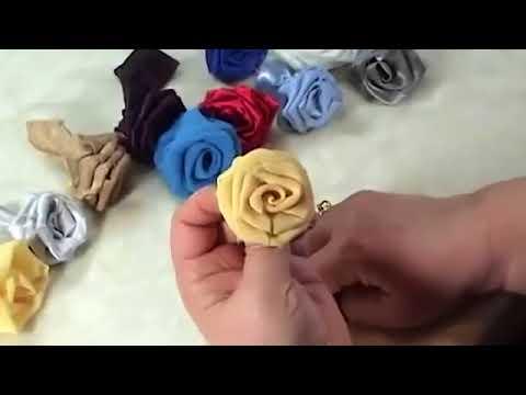 Cara Membuat Bunga Dari Kain Perca ~ Kerajinan Tangan Kreatif - YouTube a068c18657