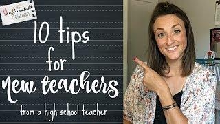 10 Tips for New Teachers   High School Teacher Video