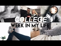 COLLEGE WEEK IN MY LIFE: GRWM, going to classes, what I eat and wear, weird armpits :)