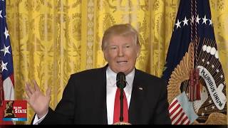 president donald trump destroys main stream media at press conference