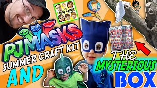 MYSTERY BOX 🎁Disney's PJ MASKS Craft Kit & FGTEEV (FUNnel Vision)- unboxing Gekko Cat boy Skit 🙀