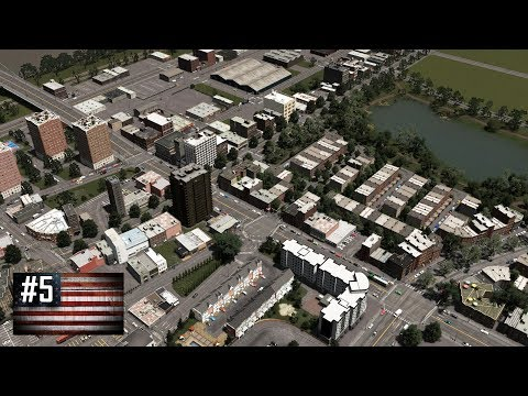 Cities: Skylines - The American Dream #5 - Downtown west: pu