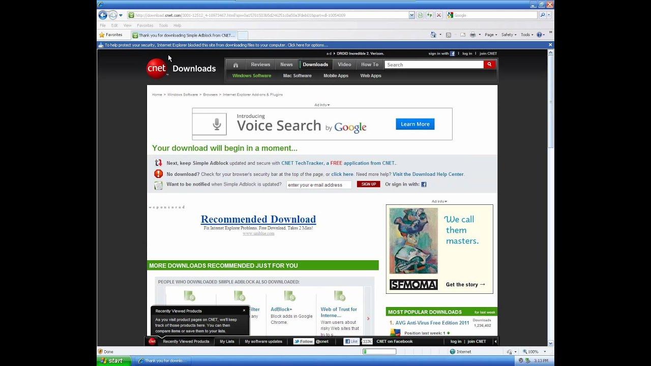 how to stop internet explorer blocking content